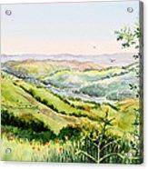 Summer Landscape Inspiration Point Orinda California Acrylic Print