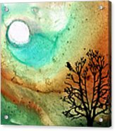 Summer Moon - Landscape Art By Sharon Cummings Acrylic Print by Sharon Cummings