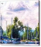 Summer Morning At Johnson's Boatyard Acrylic Print
