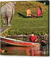 Summer Morning On Muskoka River Acrylic Print