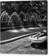 Summer On Columbus Circle Acrylic Print