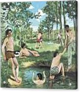 Summer Scene Acrylic Print by Frederic Bazille