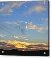 Summer Sets Panorama Acrylic Print