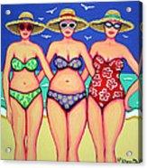 Summer Sisters - Beach Acrylic Print