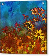 Summer Sizzle Abstract Flower Art Acrylic Print