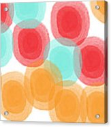 Summer Sorbet- Abstract Painting Acrylic Print