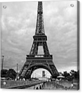 Summer Storm Over The Eiffel Tower Acrylic Print