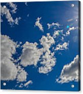 Summer Sun With Clouds Acrylic Print