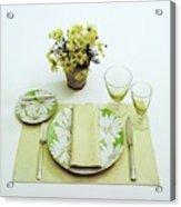 Summer Table Setting Acrylic Print
