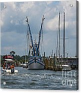Summer Time Boating Acrylic Print