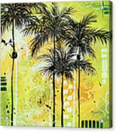 Summer Time In The Tropics By Madart Acrylic Print