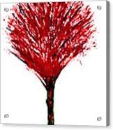 Summer Tree Painting Isolated Acrylic Print