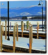 Summers Docked For Winter Acrylic Print