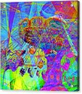 Summertime At Santa Cruz Beach Boardwalk 5d23905 Square Acrylic Print by Wingsdomain Art and Photography