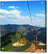 Summertime Chairlift Ride Acrylic Print