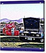 Summertime Class Car Show Acrylic Print