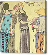 Summertime Dress Designs By Paul Poiret Acrylic Print by French School