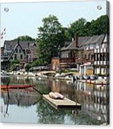 Summertime On Boathouse Row Acrylic Print