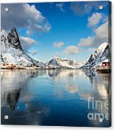 Sun And Ice Reinefjord Acrylic Print