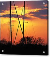Sun And Masts Acrylic Print