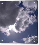 Sun Behind The Clouds Acrylic Print