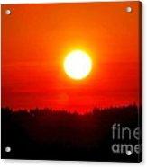Sun Blast Over Whidbey Island Washington State Acrylic Print