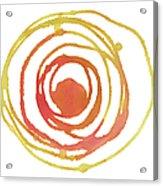 Sun Circle Abstract Water Color Paint Acrylic Print