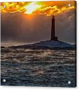 Sun Climbing Over Thacher Island Lighthouse Acrylic Print