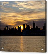 Sun Comes Up On New York City Acrylic Print
