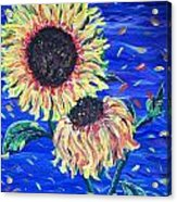 Sun Flowers And Wind Acrylic Print