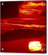 Sun In Descent Acrylic Print