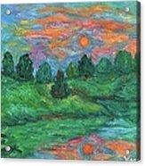 Sun In Water Acrylic Print