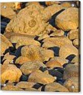 Sun Kissed Rocks Acrylic Print