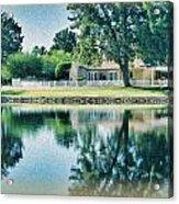 Sun Lakes Oil Acrylic Print