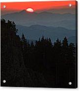 Sun Over The Mountain  Acrylic Print