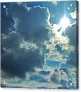 Sun Peeping Out Acrylic Print
