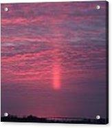 Sun Pillar Horizontal Acrylic Print