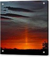 Sun Pillar In The Morning Acrylic Print