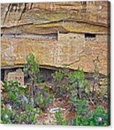 Sun Point Pueblo View-12-1300 Ad  On Chapin Mesa Top Loop Road In Mesa Verde National Park-colorado  Acrylic Print