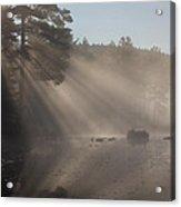 Sun Rays At Lowell Lake Acrylic Print