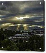 Sun Rays Over The City Acrylic Print