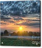 Sun Rays Vs Rain Clouds Acrylic Print
