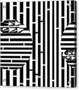 Sun Re-rising Maze Acrylic Print