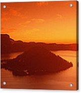 Sun Rising Over Crater Lake National Acrylic Print