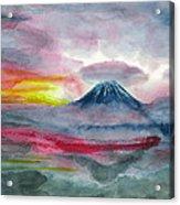 Sun Salutation At Mt. Fuji Acrylic Print