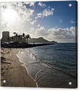 Sun Sand And Waves - Waikiki Honolulu Hawaii Acrylic Print