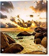 Sun Sand Sea And Rocks Acrylic Print