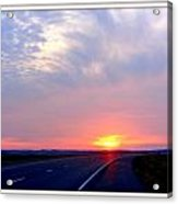 Sun Set Going Home On The Toll Road Acrylic Print
