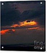 Sun Set On Cadillac Mountain Acrylic Print