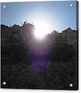 Sun Sets At Tent Rocks Acrylic Print